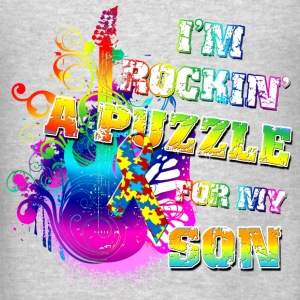 I'm Rockin' A Puzzle For My Son Hoodies - Men's T-Shirt