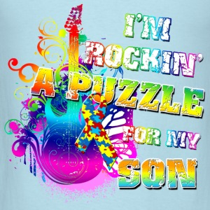 I'm Rockin' A Puzzle For My Son Baby & Toddler Shirts - Men's T-Shirt