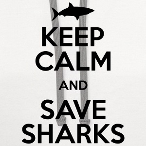 keep calm and save sharks T-Shirts - Contrast Hoodie