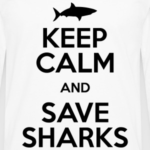keep calm and save sharks T-Shirts - Men's Premium Long Sleeve T-Shirt