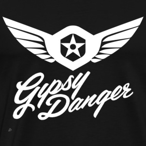Pacific Rim: Gypsy Danger Hoodie (Design on Front) - Men's Premium T-Shirt