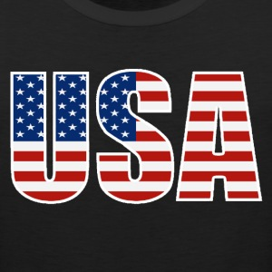 USA American Flag Women's V-Neck T-shirt - Men's Premium Tank