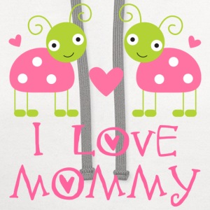 I Love Mommy Baby T-shirt (ladybugs) - Contrast Hoodie