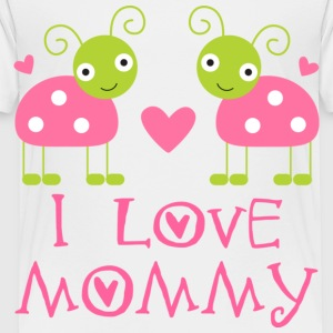 I Love Mommy Baby T-shirt (ladybugs) - Toddler Premium T-Shirt