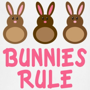 Easter Bunnies Rule T-shirt - Adjustable Apron