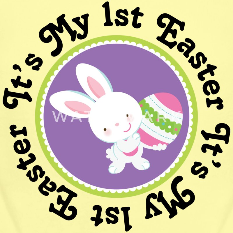 1st Easter Bunny Rabbit Baby & Toddler Shirts - Short Sleeve Baby Bodysuit