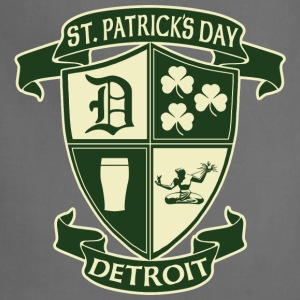 St. Patricks Day Detroit Irish Crest  Women's T-Shirts - Adjustable Apron