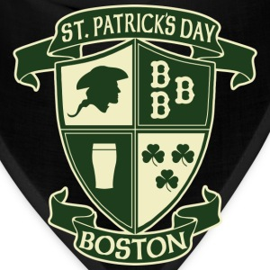 St. Paticks Day Boston Irish Crest  Hoodies - Bandana