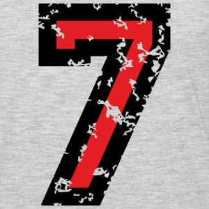 Number Seven T-Shirt No.7 (Men Grey) - Men's Premium Long Sleeve T-Shirt