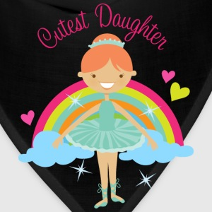 Cutest Daughter Ballerina Baby & Toddler Shirts - Bandana