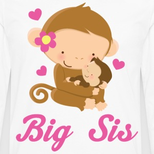 Big Sis Girl Monkey Kids' Shirts - Men's Premium Long Sleeve T-Shirt