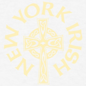 New York Irish Celtic Cross Apparel Clothing Shirt Phone & Tablet Cases - Men's T-Shirt