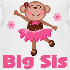 Cute Big Sister Ballerina Kids' Shirts - Toddler Premium T-Shirt
