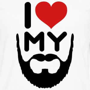 I Love My Beard Hoodies - Men's Premium Long Sleeve T-Shirt