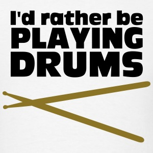 Playing Drums Hoodies - Men's T-Shirt