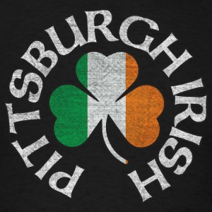 pittsburgh_irish_shamrock_flag_clothing_apparel Long Sleeve Shirts - Men's T-Shirt