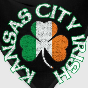 Kansas City Irish Shamrock Flag Apparel Long Sleeve Shirts - Bandana