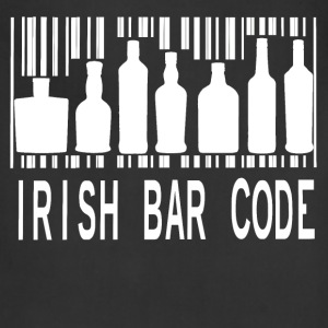 Irish Barcode Hoodies - Adjustable Apron