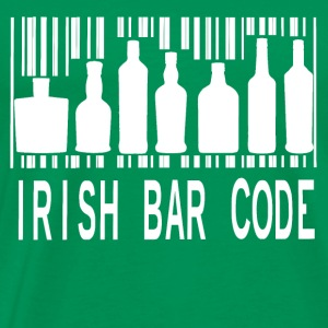 Irish Barcode Hoodies - Men's Premium T-Shirt