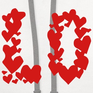 LOVE couple pair partner Heart Valentines Day gift Tanks - Contrast Hoodie