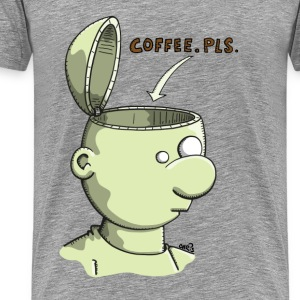 Coffee please Long Sleeve Shirts - Men's Premium T-Shirt