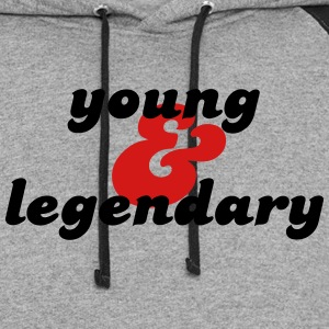 young & legendary Long Sleeve Shirts - Colorblock Hoodie