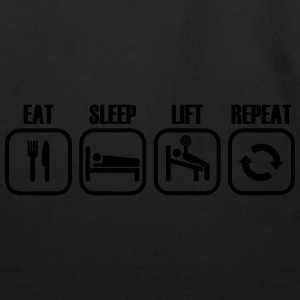 Eat Sleep Lift Repeat Long Sleeve Shirts - Eco-Friendly Cotton Tote