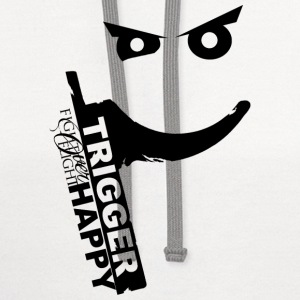 TriggerHappy.png Women's T-Shirts - Contrast Hoodie