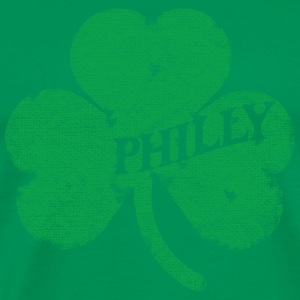 Philly Distressed Irish Shamrock Apparel Hoodies - Men's Premium T-Shirt