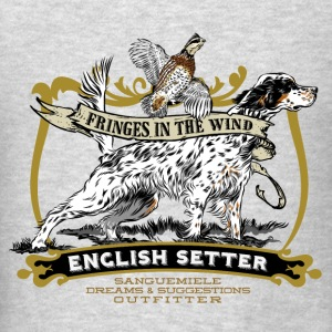 setter_flag_tail_point Hoodies - Men's T-Shirt