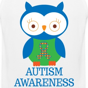 Autism Awareness Owl Women's T-Shirts - Men's Premium Tank