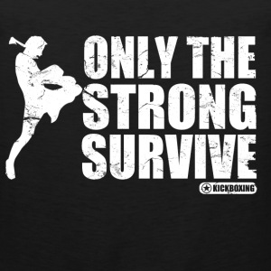 only_the_strong_survive T-Shirts - Men's Premium Tank