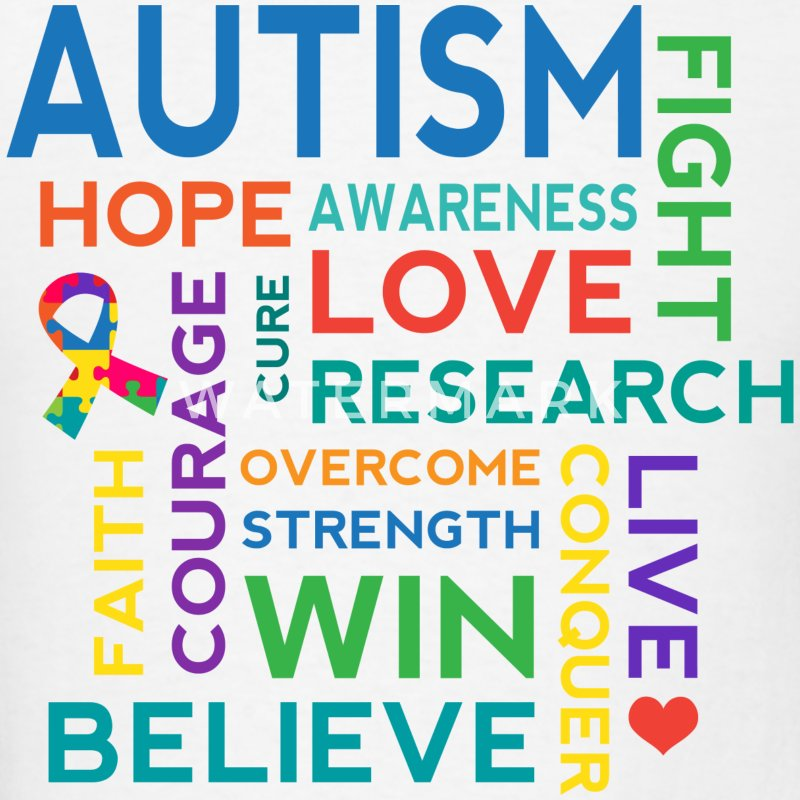 Autism Awareness Hope Cure Kids' Shirts - Men's T-Shirt