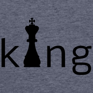 King Chess Caps - Men's 50/50 T-Shirt