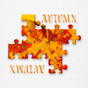 Autumn leaves puzzle Buttons - Men's T-Shirt