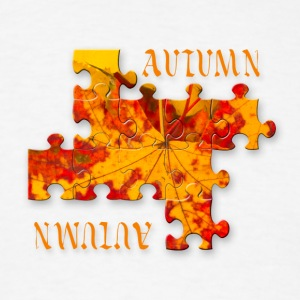 Autumn leaves puzzle Tanks - Men's T-Shirt