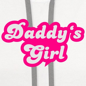 Daddy's girl Women's T-Shirts - Contrast Hoodie