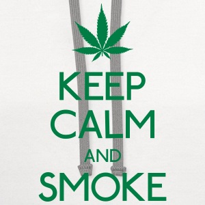 keep calm and smoke T-Shirts - Contrast Hoodie