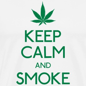 keep calm and smoke Hoodies - Men's Premium T-Shirt