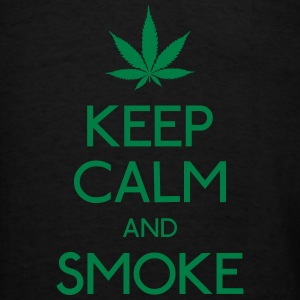 keep calm and smoke Bags & backpacks - Men's T-Shirt