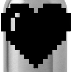 Blue Pixel Heart - Water Bottle