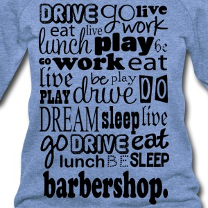 Barbershop Music Quote T-Shirts - Women's Wideneck Sweatshirt