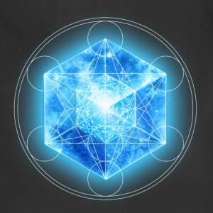 Metatrons Cube with TESSERACT, Hypercube 4D, digital, Symbol - Dimensional Shift,  T-Shirts - Adjustable Apron
