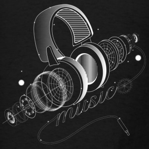 Items of headphones Sweatshirts - Men's T-Shirt