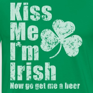 Kiss Me I'm Irish Beer Me Hoodies - Men's Premium T-Shirt