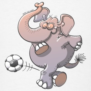 Elephant Kicking a Ball Phone & Tablet Cases - Men's T-Shirt