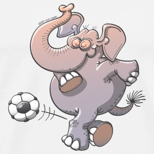 Elephant Kicking a Ball Phone & Tablet Cases - Men's Premium T-Shirt