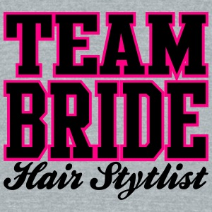 TEAM BRIDE: Hair Stylist Bottles & Mugs - Unisex Tri-Blend T-Shirt by American Apparel