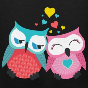 owls in love  T-Shirts - Men's Premium Tank