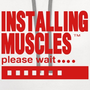 INSTALLING MUSCLES please wait... T-Shirts - Contrast Hoodie